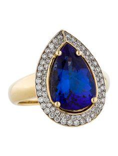 4.80ctw Tanzanite and Diamond Ring