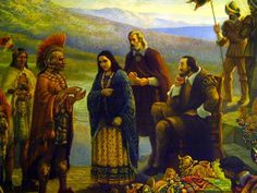 "Doña Marina, ""La Malinche"" with Hernán Cortés as a interpreter"