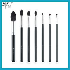 Anmor High Quality 7 PCS Makeup Brush Set Professional Makeup Brushes Goat Hair Brochas Maquillaje BK-142