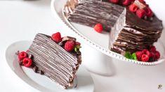 Tort din foi cu ciocolata si crema de zmeura