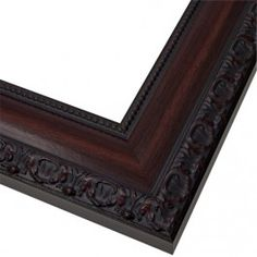 Bellemeade Traditional Cherry Mirror Mate frames...These look perfect!  I dislike a plain mirror over the sinks!
