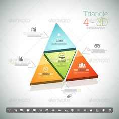 Triangle Four 3D Infographic Template #design #present Download: http://graphicriver.net/item/triangle-four-3d-infographic/8398908?ref=ksioks