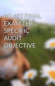 AC 492 FINAL EXAM THE SPECIFIC AUDIT OBJECTIVE  - AC 492 FINAL EXAM THE SPECIFIC AUDIT OBJECTIVE #wattpad #short-story