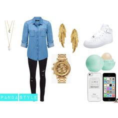Panda Style by karoinesommerfugl11 on Polyvore featuring beauty, Eos, River Island, Nixon, With Love From CA, LeiVanKash, Forever New, Frame Denim and NIKE