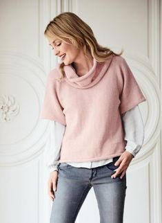 Women knitting patterns | Page 5 - Bergère de France Rose Mauve, Winter Must Haves, Malva, Roll Neck, Elegant Woman, Winter Collection, Pulls, Knitting Patterns, Pink Ladies