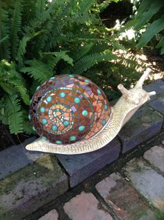 Mosaic snail by Lisa B's Art studio