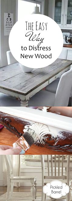 How to Distress Wood, Easy Ways to Distress Wood, Wood Distressing, DIY Wood Distress, How to Easily Distress Wood, DIY Crafts, DIY Craft Hacks, Popular Pin