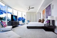 Fort Lauderdale House Interior by Fava Design Group. Love the shape and style of this amazing room.