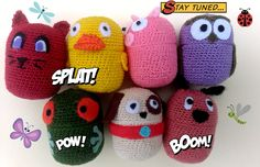 7 Crochet Egg Kinder Surprise Hello Kitty Easter Eggs Ovetti Amigurumi