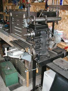 Engine Mill Feb/Mar 2002 issue of Mechanics Workshop Metal Mill, Metal Shop, Fabrication Tools, Steel Fabrication, Homemade Lathe, Homemade Tools, Metal Workshop, Diy Workshop, Grinding Machine