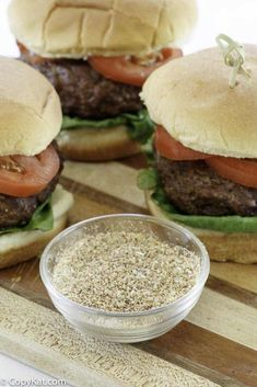 Give your hamburgers the best flavor with this easy homemade burger seasoning recipe. Plus get tips on how to cook the perfect grilled burgers. #burger #burgerrecipes #seasonings #spices #cookingtips #spiceblends #grillingrecipes #hamburger #beefrecipes