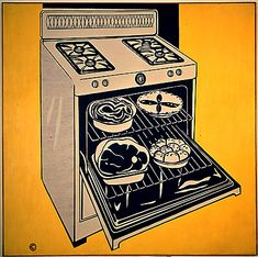 Kitchen range - Roy Lichtenstein, 1961-62 / National Gallery of Australia, Canberra, Australia