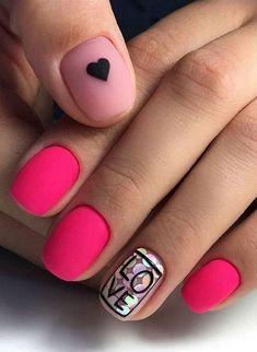 Easy Valentine's Day Nail Art Ideas 2019 easy valentine's day nail art ideas nail designs; acrylic easy valentine's day nail art ideas nail designs; Valentine's Day Nail Designs, Acrylic Nail Designs, Nails Design, Pink Design, Acrylic Art, Design Art, Acrylic Nails, Heart Nail Designs, Salon Design