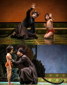 the Jungle Book always makes me a little queasy, but this costuming for Bagheera is really well-done. Goodman Theatre's stage production.
