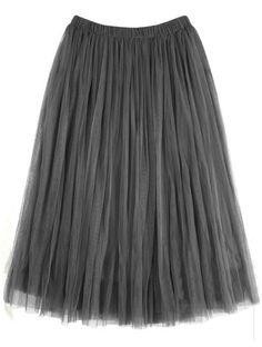 To find out about the Grey Elastic Waist Multilayers Mesh Skirt at SHEIN, part of our latest Skirts ready to shop online today! Pleated Skirts Knee Length, Calf Length Skirts, High Skirts, White Skater Skirt, Midi Flare Skirt, Flared Skirt, Gray Skirt, Elastic Waist Skirt, Mesh Skirt
