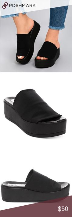 90s steve madden slinky platform sandal never worn!!! they arrived and were too small Steve Madden Shoes Platforms