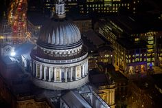 St Paul's Cathedral by night  Picture: Jason Hawkes / Barcroft Media