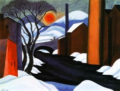 """""""Mill Creek"""" (also known as """"Winter Sun"""") by Oscar Bluemner, 1925"""