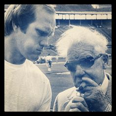 The Chief Art Rooney and The Blonde Bomber Terry Bradshaw - Pittsburgh Steelers