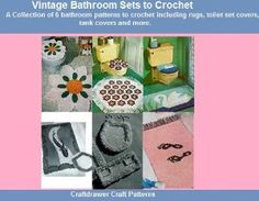 06 March 2015 : Vintage Bathroom Sets to Crochet - A Collection of 6 Bathroom Rugs, Tissue and Toilet Seat Covers, Tank Covers... by Craftdrawer Craft Patterns and Bookdrawer http://www.dailyfreebooks.com/bookinfo.php?book=aHR0cDovL3d3dy5hbWF6b24uY29tL2dwL3Byb2R1Y3QvQjAwODFMQ0tYQS8/dGFnPWRhaWx5ZmItMjA=