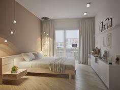 Amenajarea functionala a unui apartament de 3 camere- Inspiratie in amenajarea casei - www. Bedroom Colors, Home Decor Bedroom, Home Living Room, Minimalist Bedroom, Modern Bedroom, Elegant Home Decor, Bedroom Layouts, Luxurious Bedrooms, House Rooms