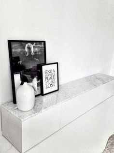 "Ikea ""Bestå"" with Carrara marble table top"