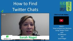 Find the best Twitter chats for your business with these tips from Sarah @sproutsocial