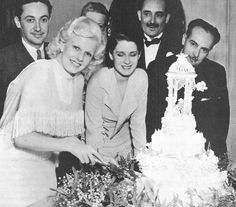 Image detail for -Jean Harlow and Paul Bern's wedding reception. Jean does the honours ...