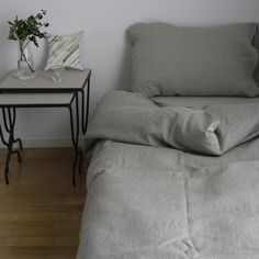 Image of Linen Duvet Cover: Natural
