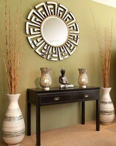Sea glass floor vase with flowers. | Home Decor | Pinterest | Sea ...