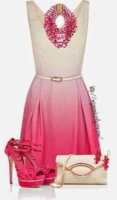 Just the dress and necklace Pink Dress Outfits 9a7ce204318e
