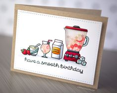From Kristina Werner Creative Shaker Card with New Lawn Fawn stamps & Copic Coloring