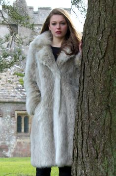 Bear Faux Fur Long Coat Countryside Style Autumn Winter AW13 Ruby  ...