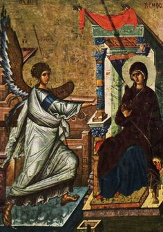 Annunciation / La Anunciación // 14th century // Byzantine ikon