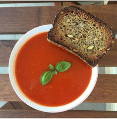 Delicious tomato soup, creamy, full of flavour. It contains potassium and becouse of that - it's perfect for hangover dinner :)