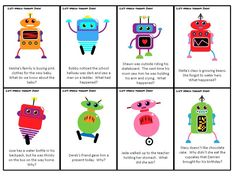 Liz's Speech Therapy Ideas: Robot Inference Cards. Pinned by SOS Inc. Resources @sostherapy.
