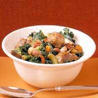 Sausage, Kale, and Bean Stew Recipe