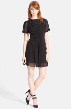 MARC+BY+MARC+JACOBS+Pintuck+Silk+Chiffon+Dress+available+at+#Nordstrom