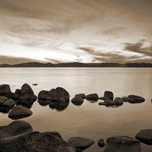 Fototapet - Lake Tahoe - Sepia