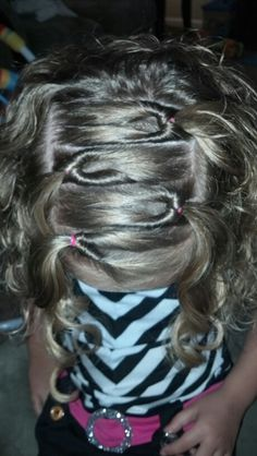 Little girls hair.