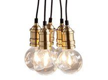Starkey clusterhanglamp, messing