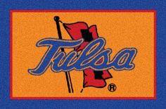 Tulsa Golden Hurricane Team Logo Area Rug