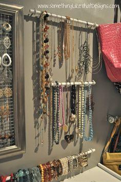 DIY jewelry hangers.