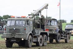 Tanks,Trucks & Firepower Show.Dunchurch Warwickshire AEC Militant Recovery Truck With Bedford MK Truck in tow Army Vehicles, Armored Vehicles, Bedford Truck, British Army Uniform, Old Lorries, Tank Armor, British Armed Forces, Armored Fighting Vehicle, Military Surplus