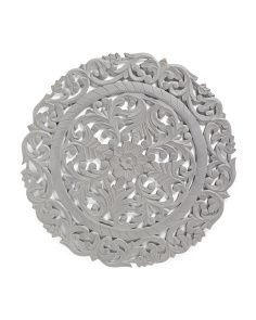 Carved Wood Medallion Wall Art