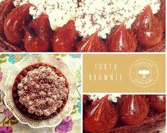 Torre brownie con nueces,  dulce de leche y merengue italiano