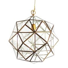 "these lanterns, with their multitude of diamond-shaped panes ('rombus' is derived from the spanish word for diamond), carry the moorish spirit of the spanish city in which they are made, translating it into a modernist silhouette.  ceiling mount; hardwired, requires professional installation. single socket for type A bulb up to 60w. 36"" chain.  standard lead time on this collection is 8-10 weeks.  to view the collection catalog, please click here."