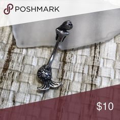 Mermaid non dangle belly button ring New! 14 gauge mermaid navel ring Made from 316L surgical steel Jewelry