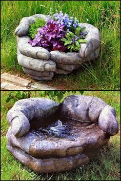 How To Make Your Own Hand Planters If your tastes tend toward the unusual, these hands will appeal. These are 'armless hypertufa hands 🙂 Does your garden need one of these helping hypertufa hands? How To Make Your Own Hand Pla Pour casting concrete