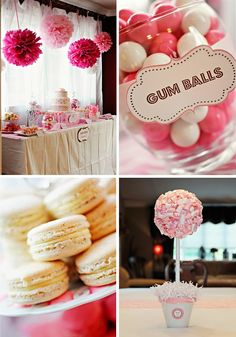 Baby Shower Decorating Idea (could probably use some of these ideas for other parties as well).